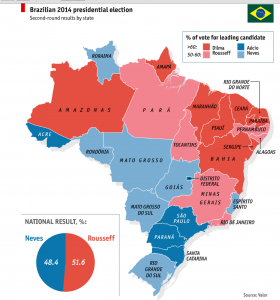 Brazil 2014 Election Map States