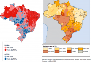 Brazil 2014 Election map income