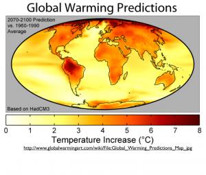 Global Warming Temperatures Map 1