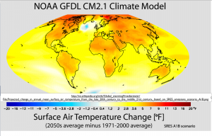 Global Warming Temperatures Map 2