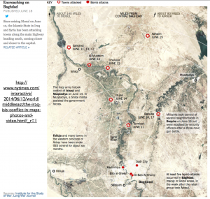 June Advance on Baghdad map
