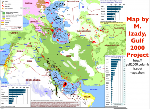 Middle East Oil Religion Map