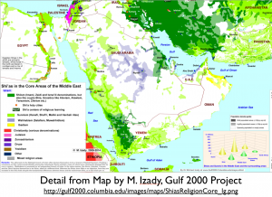Religion Arabian Peninsula Map
