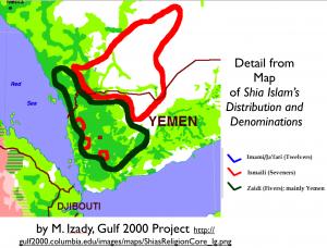Southwest Arabia Religion Map
