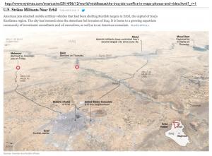 Strikes Near Erbil Map