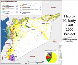 Syria Large Ethnicity Map