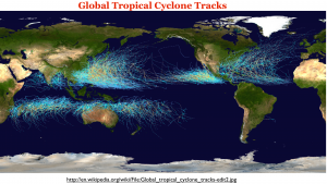 Tropical Cyclones Track Map
