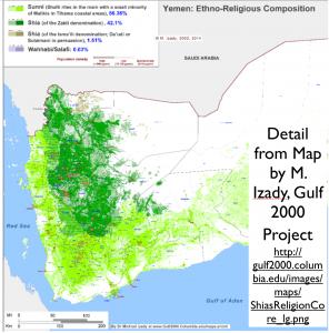 Yemen Religion Map