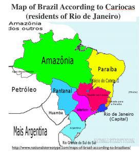 Brazil Carioca Stereotype Map