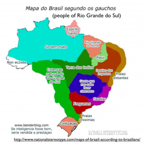 Brazil Gaucho Stereotype Map