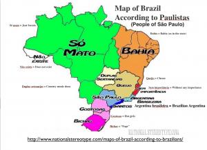 Brazil Paulista Stereotype Map