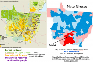 Mato Grosso agriculture elcetion map