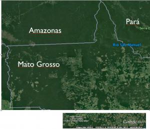 Satellite Image Northwest Mato Grosso