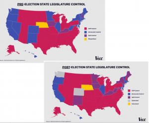 US States Legislatures Election Map