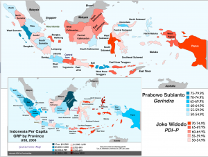 Indonesia 2014 Election GDP Maps