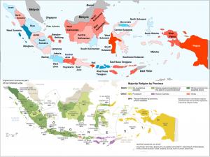 Indonesia 2014 election religion maps