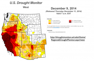 US West Drought Map 2014