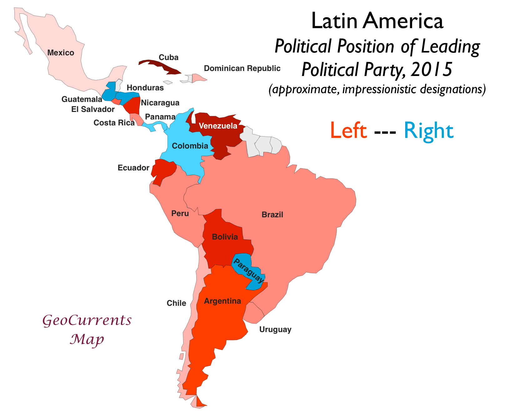 Latin America Map Attempts to Map Latin America's Political Spectrum | GeoCurrents Latin America Map