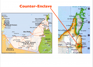 Oman Exclave Map