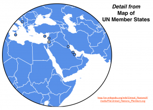 U.N. Greater Middle East Map