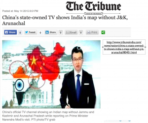 China's Map of India