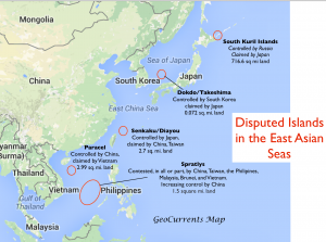 Disputed Islands in the East Asian Seas