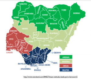 Division of Nigeria Map 4