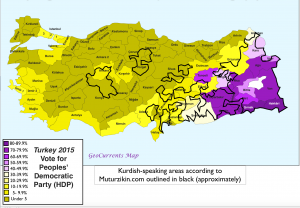 Kurds and Turkish Election Map 1