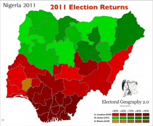 Nigeria 2011 election map