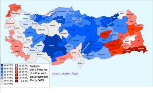 Turkey 2015 AKP Vote Map