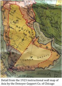 1923 Arabia Map