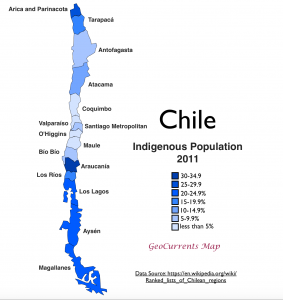 Chile Indigenous Population Map