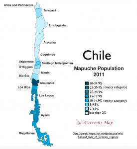 Chile Mapuche Population Map