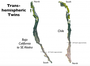 Chile North America Map Comparison