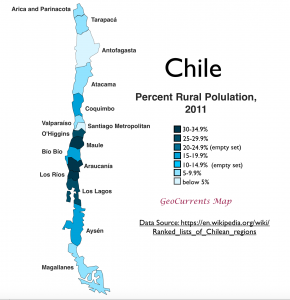 Chile Rural Population Map
