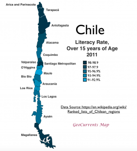 Chile literacy map