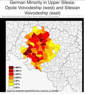 German Minority in Upper Silesia Map