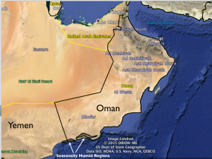Humid Areas of Dhofar Map 1