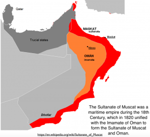 Imamate of Oman and Muscat Map