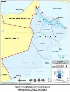 Oman Rainfall Map