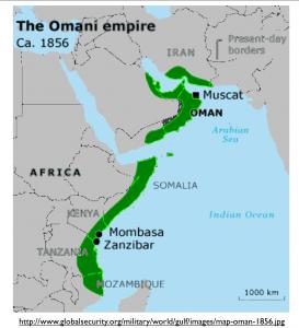 Omani Empire 1856 Map