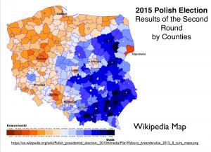 Poland 2015 Election Map