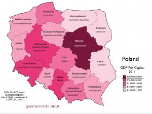 Poland GDP Per Capita Map