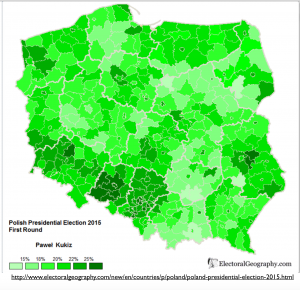 Poland Kukiz Vote 2015 Map