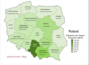 Poland Population Density Map