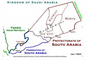 South Yemen 1965 map