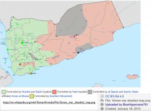 Yemen January 2015 Political Map2
