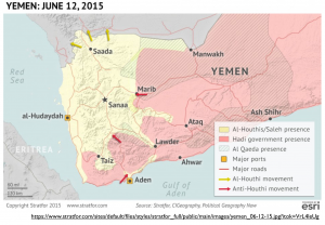 Yemen June 2015 Political Map