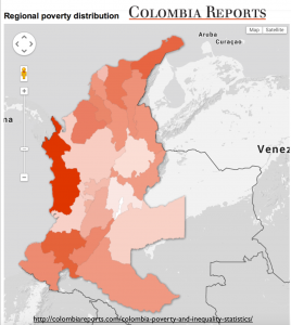 Colombia poverty map