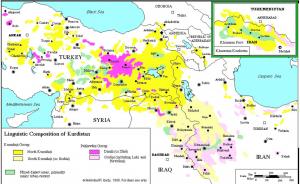 Kurdish Languages Map 1